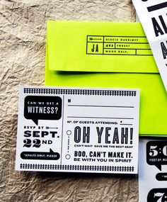 design by Kate Gabriel of Wit & Delight / letterpress by Studio On Fire