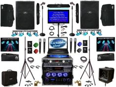 This system was designed with all the bells n whistles in many respects.  Combining a full karaoke laptop with your traditional professional karaoke system.  Was designed for a small amplitheater for camp children to perform on stage and record themselves singing.  Even hook up a video camera to the system and record all that they sing with the video too! Professional Karaoke System, Guitar Rig, Video Camera, Arcade Games, Rigs, Studio, Singing, Whistles, Children