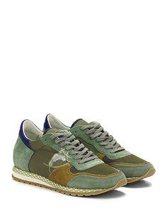 PHILIPPE MODEL PARIS - Sneakers - Uomo - Sneaker in camoscio e tessuto  tecnico con logo 848d7325f6b