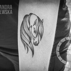 Today's work for a beautiful horse lover 🐎🐎🐎 #horse #horses #equestrian #horsetattoo #animals #animaltattoo #blackwork #blacktattoo #dotwork #black #tattooedgirls #tattoo #tat #tatts #tatuaż #татуировка #татуаж #lodz #lodztattoo #strzygatattoo