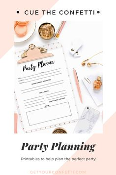 Planning a party soon? Make sure you are using this printable to help you plan out the perfect party! - Cue the Confetti Festive Crafts, Backdrops For Parties, Fun Cocktails, Summer Parties, Perfect Party, Confetti, Party Planning, Party Favors, Birthdays