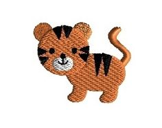 Mini Tiger - 3 Sizes! | What's New | Machine Embroidery Designs | SWAKembroidery.com Sew Cha Cha