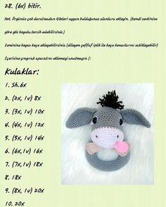 No photo description available. Crochet Baby Toys, Crochet Bunny, Crochet Animals, Crochet Dolls, Amigurumi Patterns, Doll Patterns, Crochet Patterns, Handmade Baby Gifts, Baby Rattle