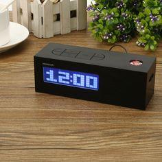 LCD Pantalla Tiempo digital Proyecto Alarmaa Reloj Con FM Radio Termómetro Contraluz