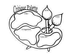 Art Paint Palette Critique - Effective Strategies for Formative Assessment - Paint Palette Critique - Art Criticism - Writing in the Art Room - Self-Assessment High School Art, Middle School Art, Art Analysis, Art Room Posters, Art Classroom Management, Art Critique, Art Handouts, Art Rubric, Art Criticism