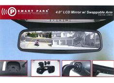 Smart Park Mirror Replacement LCD Screen and Camera Bundle Reverse Mirror, Mirror Replacement, Monitor, Park, Parks
