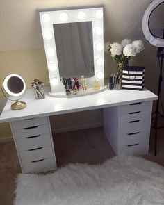 my new ikea makeup vanity diy style makeup storage households and drawers. Black Bedroom Furniture Sets. Home Design Ideas