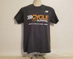 New Balance Cycle for Survival Adult Medium Gray T-Shirt #NewBalance #GraphicTee