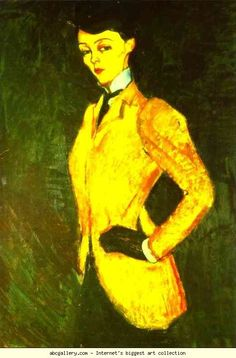 Amedeo Modigliani. Woman in Yellow Jacket   (The Amazon). Olga's Gallery.