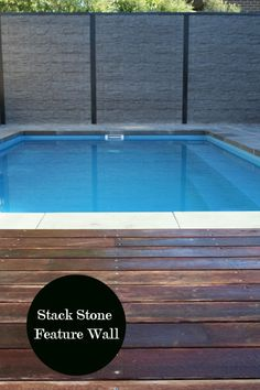 Stack Stone Concrete Retaining Walls Pool Feature Walls