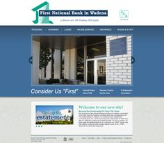 Website designed for First National Bank in Wadena.