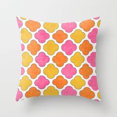 summer clover Throw Pillow by Her Art - $20.00
