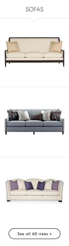 """""""SOFAS"""" by kathykuohome ❤ liked on Polyvore featuring sofas, kathykuohome, home, furniture, off white couch, ivory sofa, beige couch, cream sofa, cream colored couch and stripe sofa"""