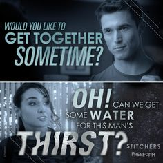Greatest quote of the night. #Stitchers