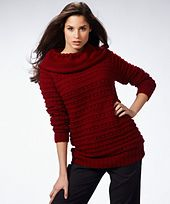 Ravelry: Long Raglan Sweater pattern by Red Heart Design Team