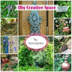 My Thrift Store Addiction : Welcome to Secret Garden: My Creative Space! #GardenTour #Repurpose