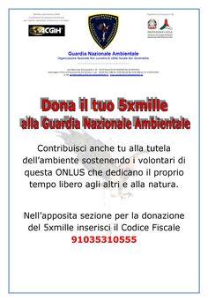#5permille #donazione5permille #guardianazionaleambientale #dichiarazionedeiredditi