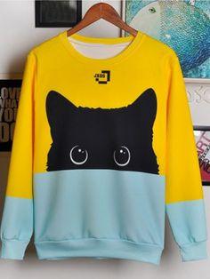 Fashion & Style — Popular Cute Cat Items Picks Sweatshirt // Coat ...