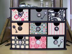 Vintage Inspired Jewelry Box Organizer Home Office by DippityDaisy, $64.00