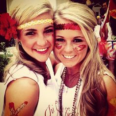 Chi Omega sisters on Bid Day