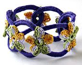Beautiful hand crafted #crochet bracelet sold on Etsy by NothingButString