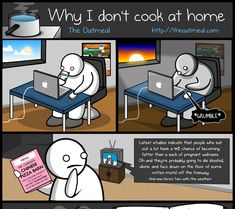 Why I don't cook at home comic - panel 1