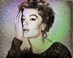 Anouk Aimée - Digital art by Rosane Farias https://www.facebook.com/Digital-Art-233512313519943/?pnref=story