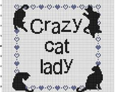 Crazy Cat Lady - Cross Stitch Pattern - Instant Download