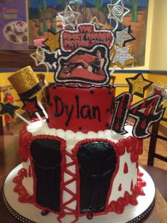 Rocky horror picture show bday cake