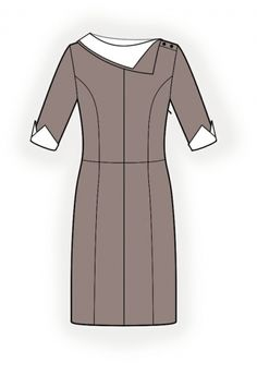 Dress With Collar - Sewing Pattern #4251