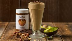 Instead of polishing off that entire jar of hazelnut chocolate spread in the pantry, this Hazelnut Chocolate Smoothie is just as decadent, but better for you! YUMM!! #BESTSMOOTHIE + #VEGASMOOTHIE