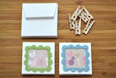 Pastel crochet frame note cards | Flickr - Photo Sharing!