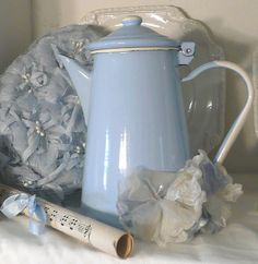 ~ enamel lovely pastel blue - georgeous ...