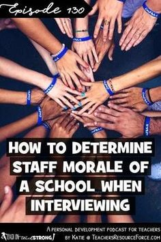 How to determine staff morale at a school when interviewing Teacher Quotes, Teacher Humor, Teacher Style, Best Teacher, Staff Morale, Jobs For Teachers, Teaching Career, Free Teaching Resources, Today Episode