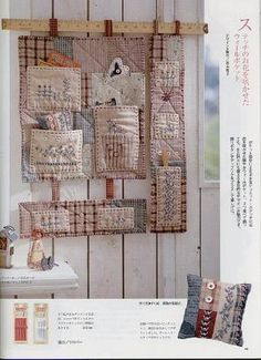Ideas For Sewing Room Accessories Inspiration Hanging Quilts, Quilted Wall Hangings, Fabric Crafts, Sewing Crafts, Sewing Projects, Room Accessories, Sewing Accessories, Small Quilts, Mini Quilts