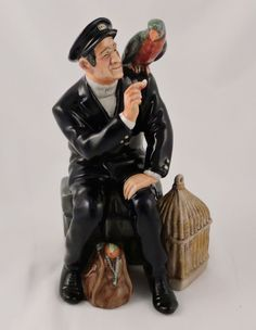 "Royal Doulton Sea Characters Figurine Shore Leave HN 2254 7.5"" Parrot Nautical #RoyalDoulton"