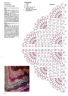 Sabrina Special S 2535 - Hakeltucher 2018 — Yandex. Chart only, key is in Russian Image gallery – Page 482307441341527052 – Artofit Chart for fancy shawl – ArtofitCrochet scarf pattern i couldn t find the pattern for thi – artofitPretty lac Crochet Shawl Diagram, Poncho Au Crochet, Bonnet Crochet, Crochet Shawls And Wraps, Crochet Chart, Crochet Scarves, Crochet Motif, Crochet Clothes, Crochet Ideas