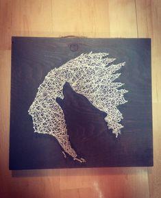 Indian wolf string art D String