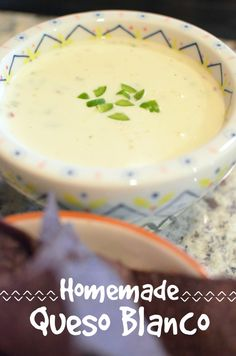 Homemade Queso Blanco | Mexican restaurant-style cheese dip!