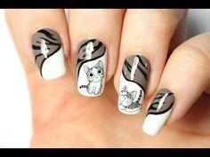 Nail art facile : Chatons mignons  - YouTube