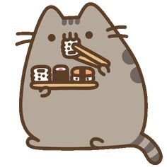 Hungry Cat Sticker by Pusheen for iOS & Android Chat Kawaii, Kawaii Cat, Kawaii Anime, Cute Anime Wallpaper, Cute Cartoon Wallpapers, Wallpaper Iphone Cute, Gato Pusheen, Pusheen Love, Kawaii Drawings