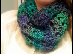 Broomstick Lace Infinity Scarf Tutorial - YouTube