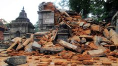 Destruction of Dewal at Pashupatinath Temple Area during 2015 Earthquake in Nepal
