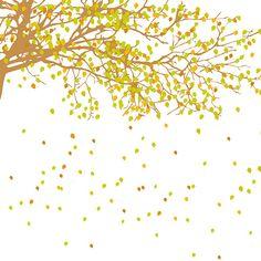 Adesivo de Parede Ramo de Folhas Secas Grudado Colorido (66x150cm)