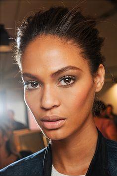 Joan Smalls makeup.  Love the natural look