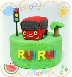 Loving Creations for You: Tayo-inspired Red Bus Chiffon Cake