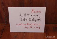 Mom Card / Mom Birthday Card / Funny Card by BEpaperie #mothersday #mom #birthday