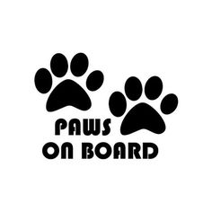 Paws on Board Paw Print Car Sticker