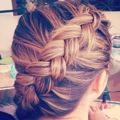 tight reverse french braid