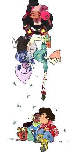 Steven Universe Amethyst And Steven Kiss